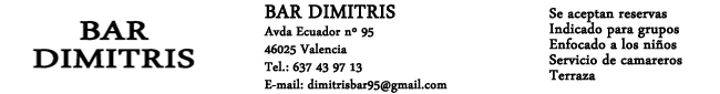 Bar-Restaurante Dimitris