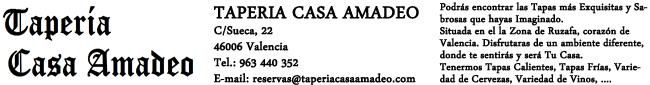 Taperia Casa Amadeo