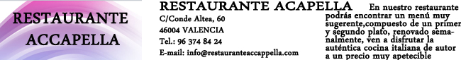 Restaurante Accapella